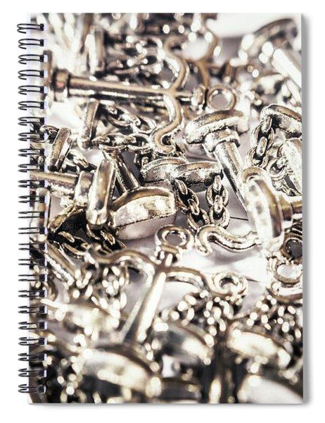 Fallen Court Of Law Spiral Notebook