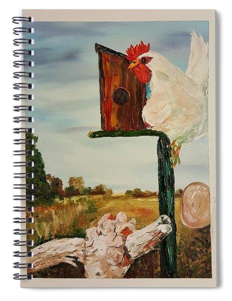 Fallen Egg 21 Spiral Notebook