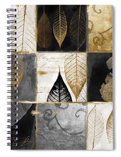 Fallen Gold Autumn Leaves Spiral Notebook