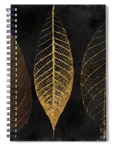 Fallen Gold II Autumn Leaves Spiral Notebook