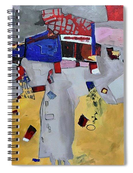 Falling City Spiral Notebook
