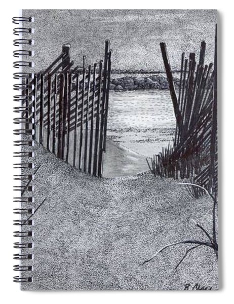 Falling Fence Spiral Notebook