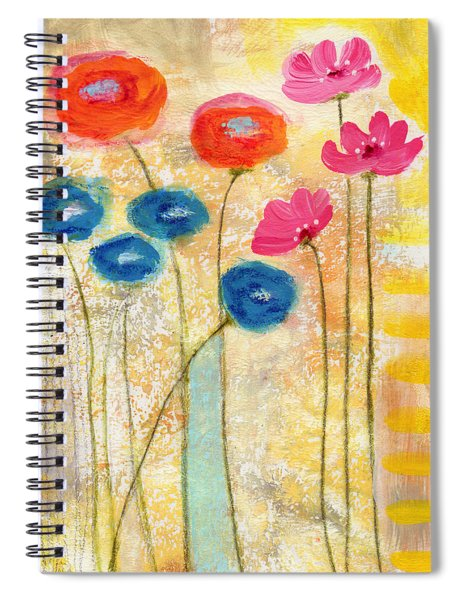 Falling For You- Floral Art By Linda Woods Spiral Notebook