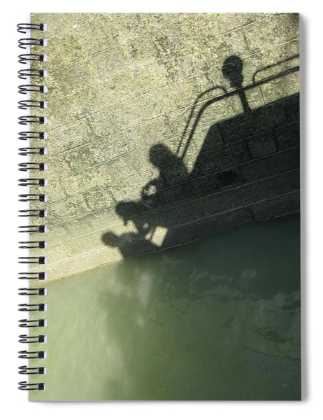 Falling Into The Water Spiral Notebook