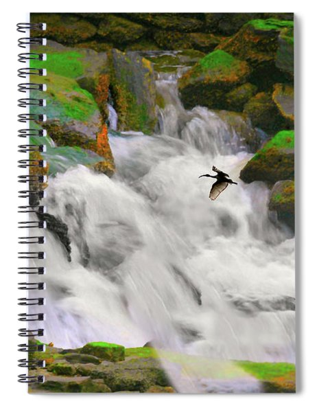 Falling Over Spiral Notebook
