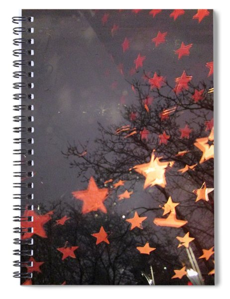 Falling Stars And I Wish.... Spiral Notebook