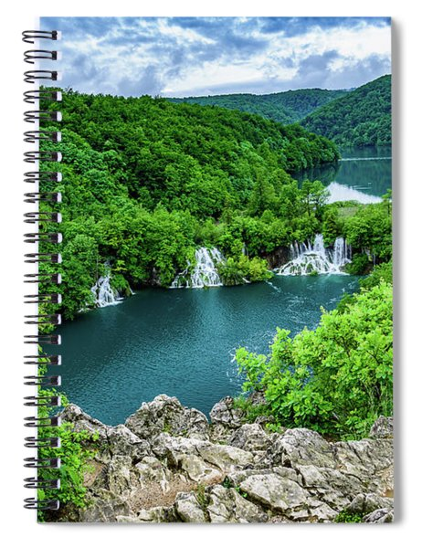 Falls From Above - Plitvice Lakes National Park, Croatia Spiral Notebook