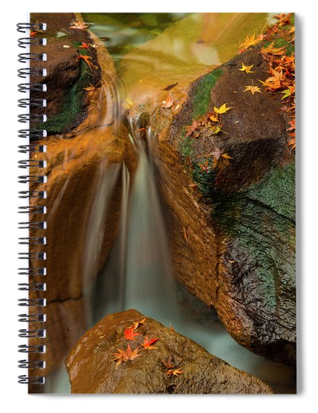 Falls In Motion Spiral Notebook