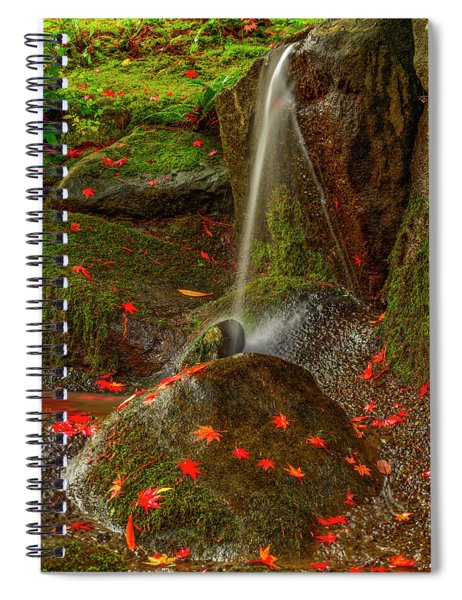 Falls In Seattle Japanese Garden Spiral Notebook