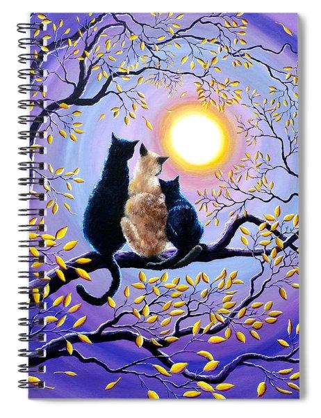 Family Moon Gazing Night Spiral Notebook