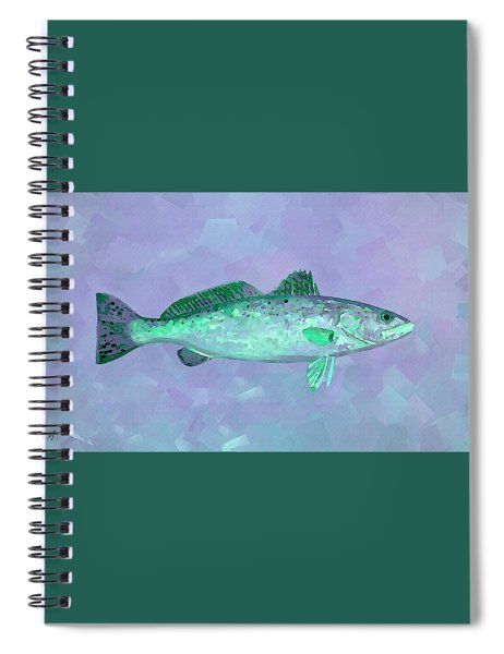 Fanciful Lavender Mint Sea Trout Spiral Notebook by Shelli Fitzpatrick