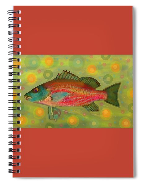 Fanciful Pink Snapper  Spiral Notebook by Shelli Fitzpatrick