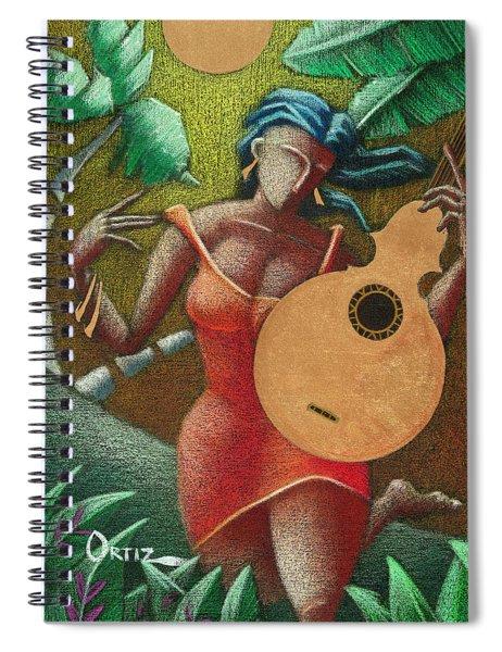 Fantasia Boricua Spiral Notebook