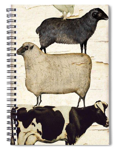 Farm Animals Pileup Spiral Notebook