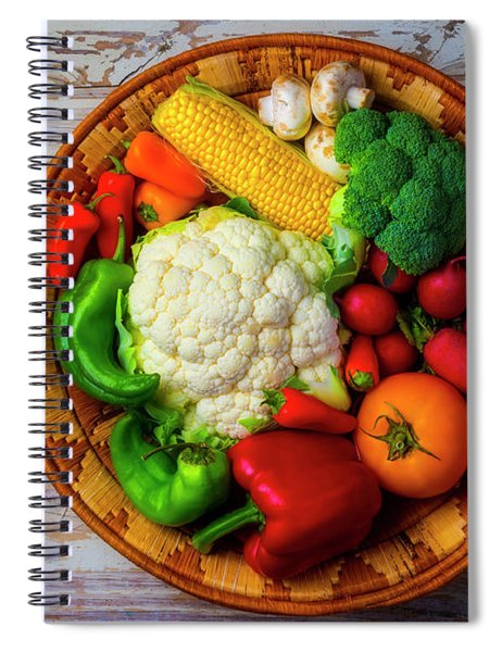 Farm Country Vegetables Spiral Notebook
