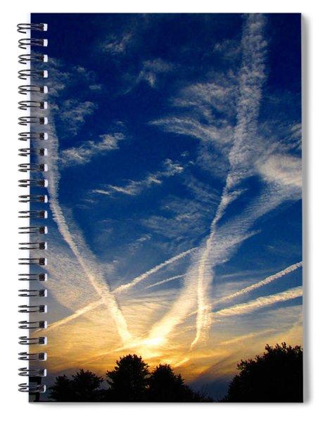 Farm Evening Skies Spiral Notebook