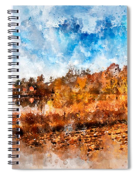 Farm Fall Colors Watercolor Spiral Notebook
