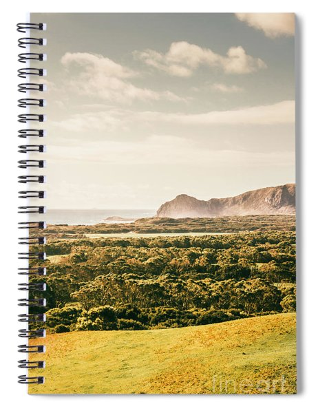Farm Fields To Seaside Shores Spiral Notebook