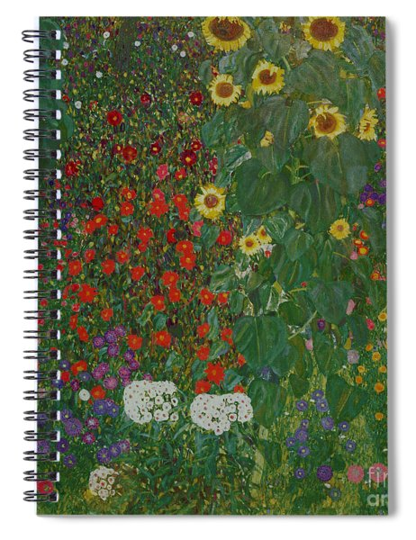 Farm Garden With Flowers Spiral Notebook