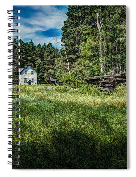 Farm In The Woods Spiral Notebook