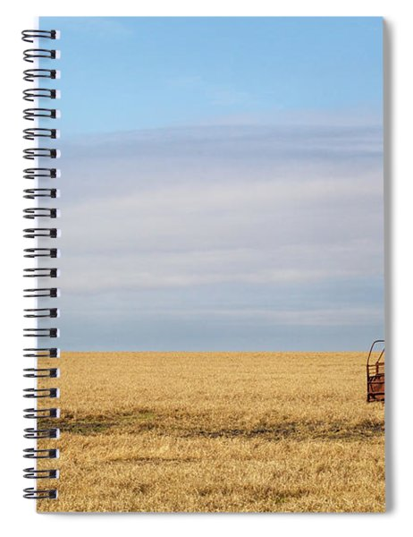 Farm Trailer In The Middle Of Field Spiral Notebook
