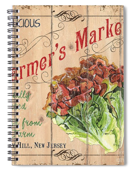 Farmer's Market Sign Spiral Notebook