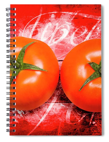Farmers Market Tomatoes Spiral Notebook