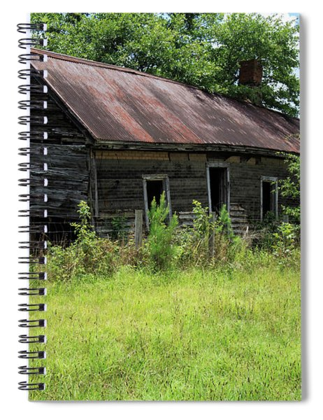 Spiral Notebook featuring the photograph Farmhouse Abandoned by Doug Camara