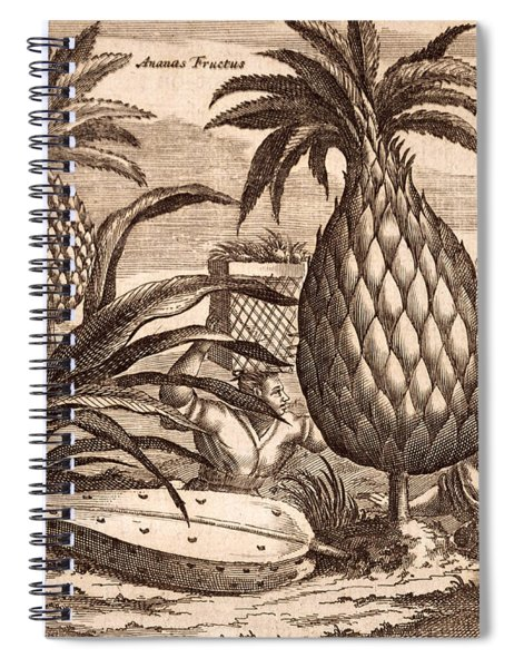 Farming Large Pineapples Spiral Notebook