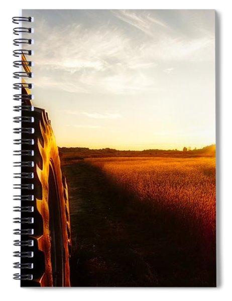 Farming Until Sunset Spiral Notebook