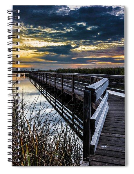 Farmington Bay Sunset - Great Salt Lake Spiral Notebook