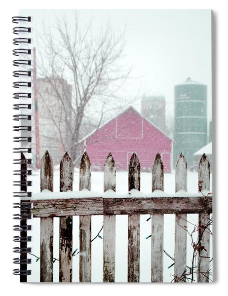 Farmline Christmas Spiral Notebook