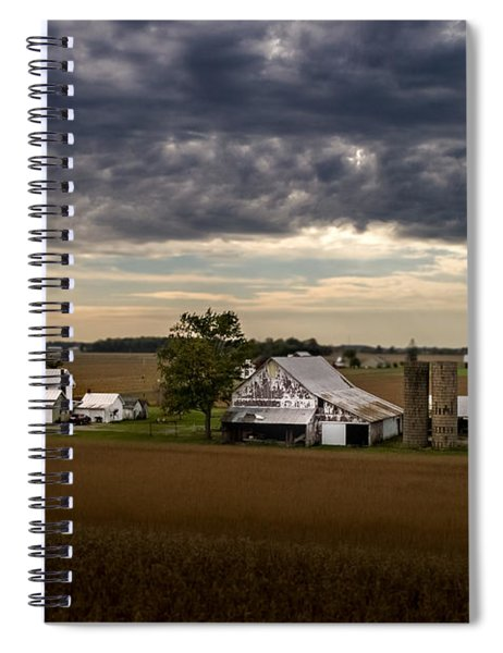 Farmstead Under Clouds Spiral Notebook