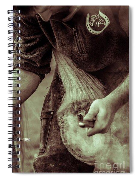 Farrier Hot Shoe Spiral Notebook