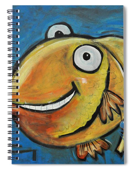 Farting Fish Spiral Notebook