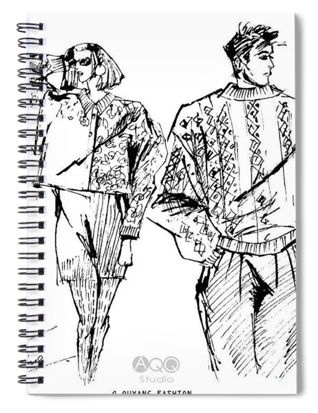 Fashion Couple Spiral Notebook