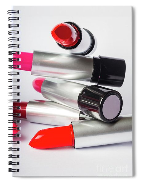 Fashion Model Lipstick Spiral Notebook
