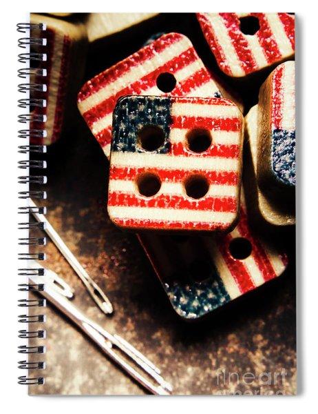 Fashioning A Usa Design Spiral Notebook