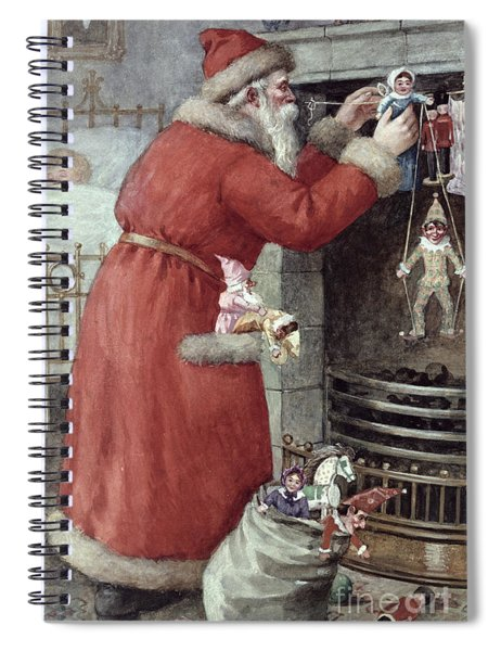 Father Christmas Spiral Notebook by Karl Roger