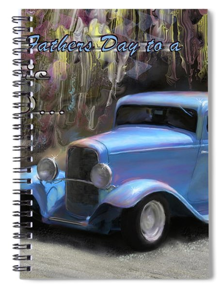 Fathers Day Classic Dad Spiral Notebook
