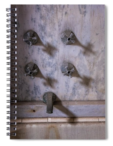 Faucet Shadows Spiral Notebook