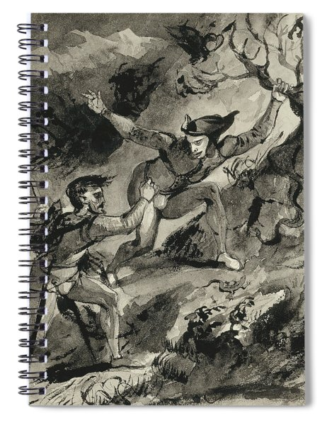 Faust And Mephistopheles On The Blocksberg Spiral Notebook