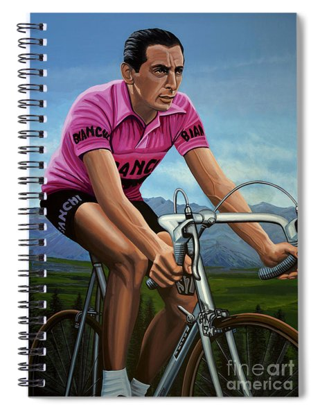 Fausto Coppi Painting Spiral Notebook
