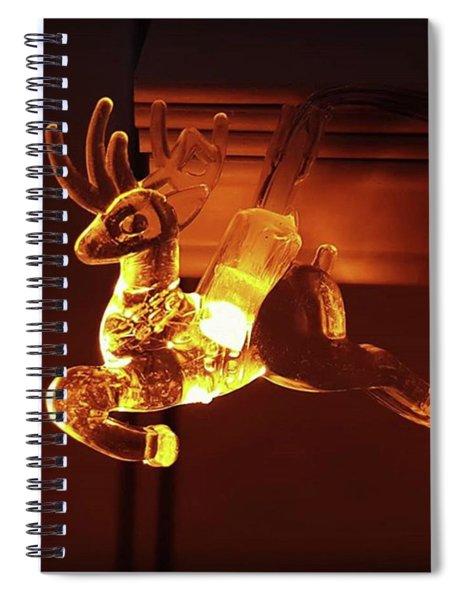 Reindeer Glow Spiral Notebook