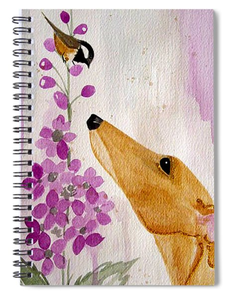 Fawn With Chickadee Spiral Notebook