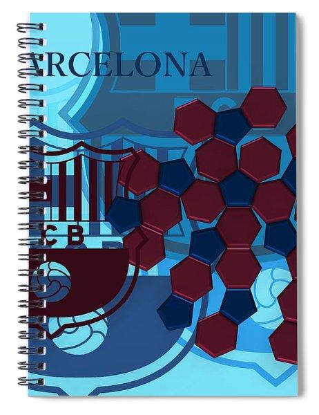 Fc Barcelona Inspirated Spiral Notebook