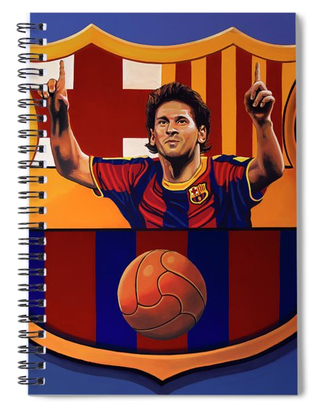 Fc Barcelona Painting Spiral Notebook