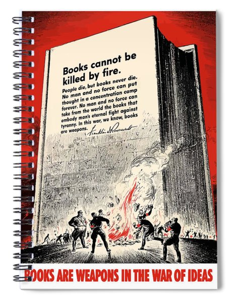 Fdr Quote On Book Burning  Spiral Notebook