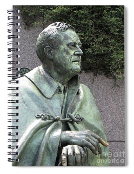 Fdr Statue At His Memorial In Washington Dc Spiral Notebook