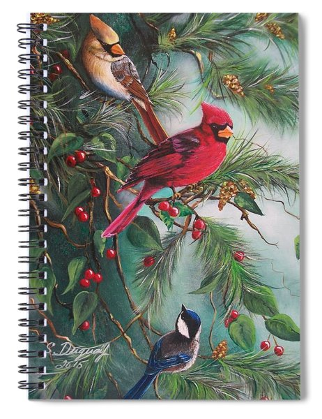 Feathered Friends  Spiral Notebook